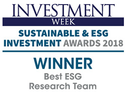 Investment week - Sustainable Investment Awards 2018