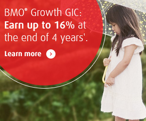 BMO Growth GIC – Potential with 100% protection