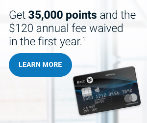 Get 35,000 welcome points, plus pay no annuel fee in the first year!