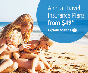 Annual Travel Insurance Plans from $49