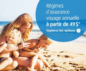 Régimes d'assurance voyage annuelle à partir de 49$
