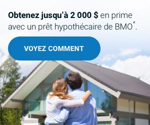 Profitez d'une prime de 1 000 $ avec un prêt hypothécaire de BMO*
