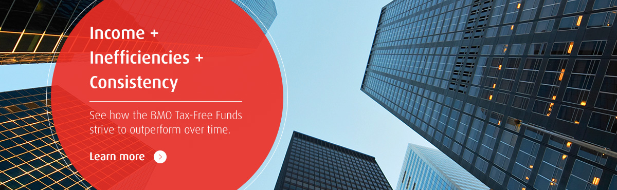Income + Inefficiencies + Consistency. See how the BMO Tax-Free Funds strive to outperform over time.