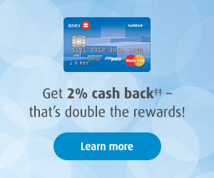 Get 2% CashBack - That's DOUBLE the rewards!