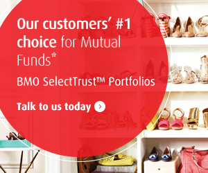 Our customers' #1 choice for mutual funds. BMO SelectTrust Portfolios.