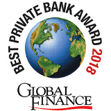 Award for BEST PRIVATE BANK FOR ENTREPRENEURS IN NORTH AMERICA 2018-2017