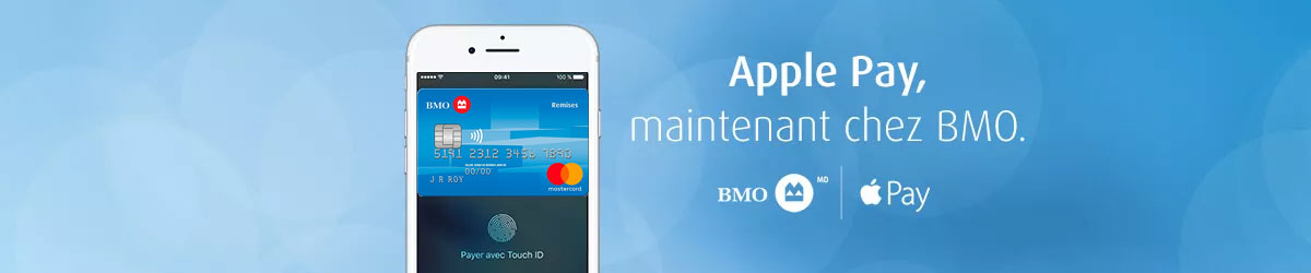 Apple Pay, maintenent chez BMO