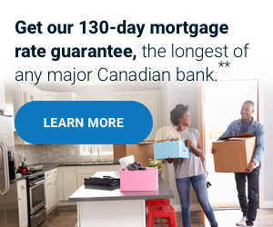 Get our 130 day mortgage rate guarantee, the longest of any major bank.