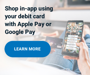Shop in-app using debit in a mobile wallet no need for a credit card