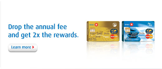 Drop the annual fee and get 2x the rewards.
