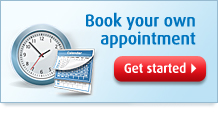 Book your own appointment. Get Started.