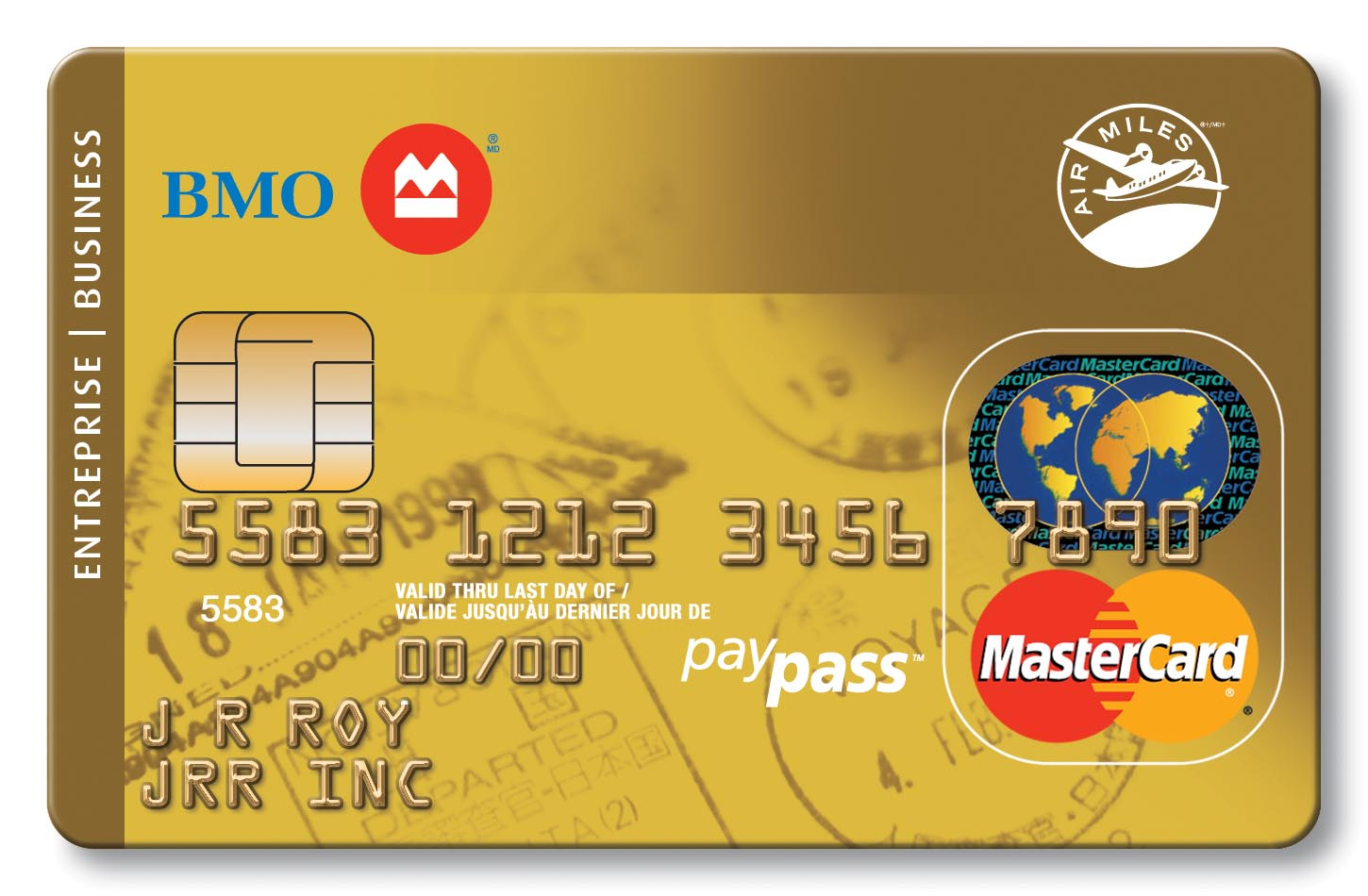 Business credit cards bmo bank of montreal select a business card gold air miles mastercard magicingreecefo Images