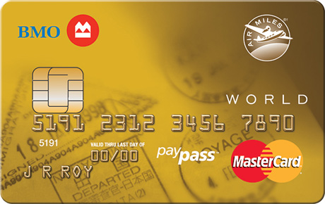 BMO® AIR MILES®† World MasterCard®* Earn AIR MILES Reward Miles Even Faster. Earn 1 reward mile for every $15 in credit card purchases.
