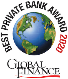 Best Private Bank for North America, 2020