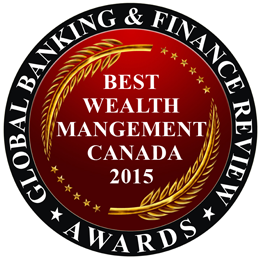 Best Wealth management Canada 2015 Award