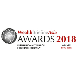 Best Private Bank Asia – Institutional Trust or Fiduciary Company 2018