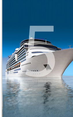 Photo of a carribean cruise ship