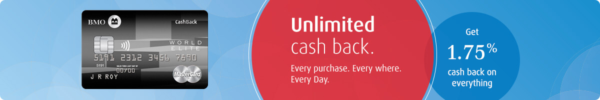 Unlimited cash back. Every purchase. Every where. Every day. Get 1.75% cash back on everything.