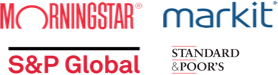 Morningstar logo; S&P Global logo; Standard&Poor's logo; Market logo