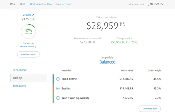 Screenshot of the SmartFolio Holdings dashboard